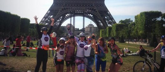 London to Paris cyclists