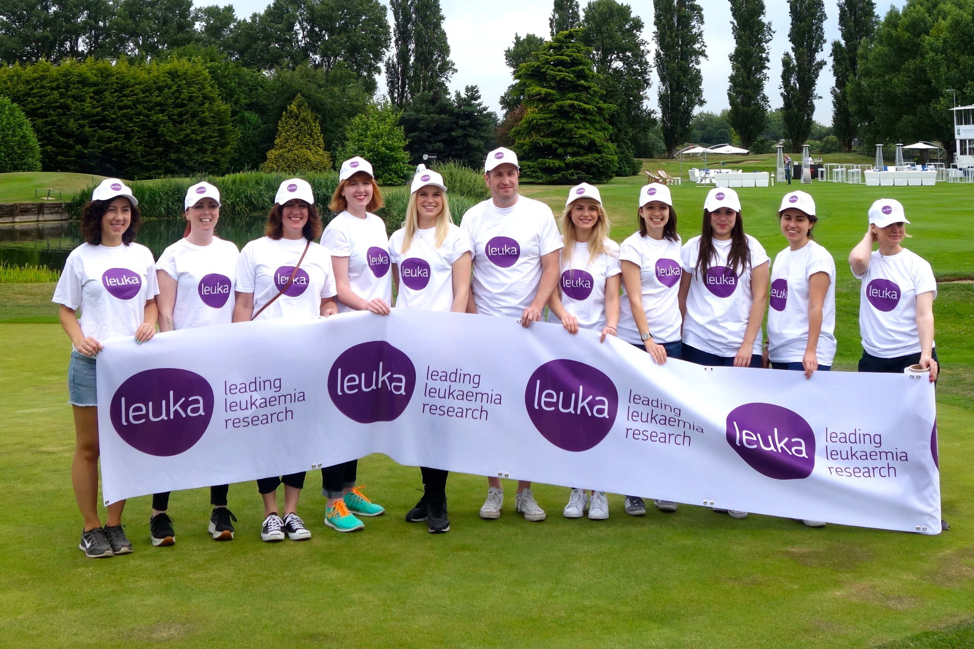 Leuka volunteers at the Mini Masters golf fundraiser for leukaemia research