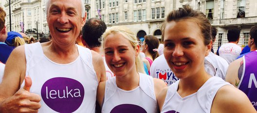 Finbarr and Leuka runners - supporting our leukaemia research