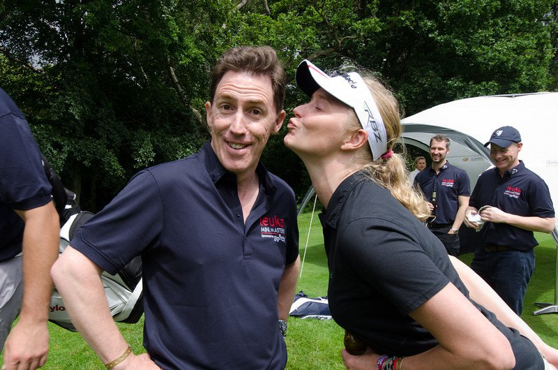 Rob Brydon at the Mini Masters - golf fundraiser for leukaemia research