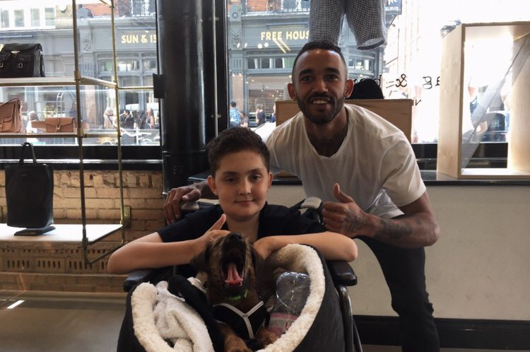 George McCarthy and Jay at rag & bone - leukaemia fundraising