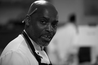 Gary Lee in the kitchen