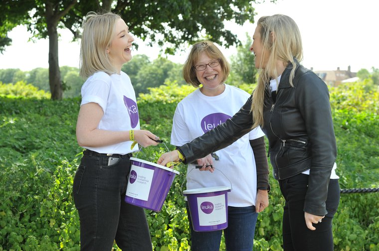 Bucket collection volunteers