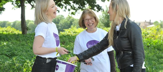 Bucket collection volunteers helping Leuka raise money to support leukaemia research