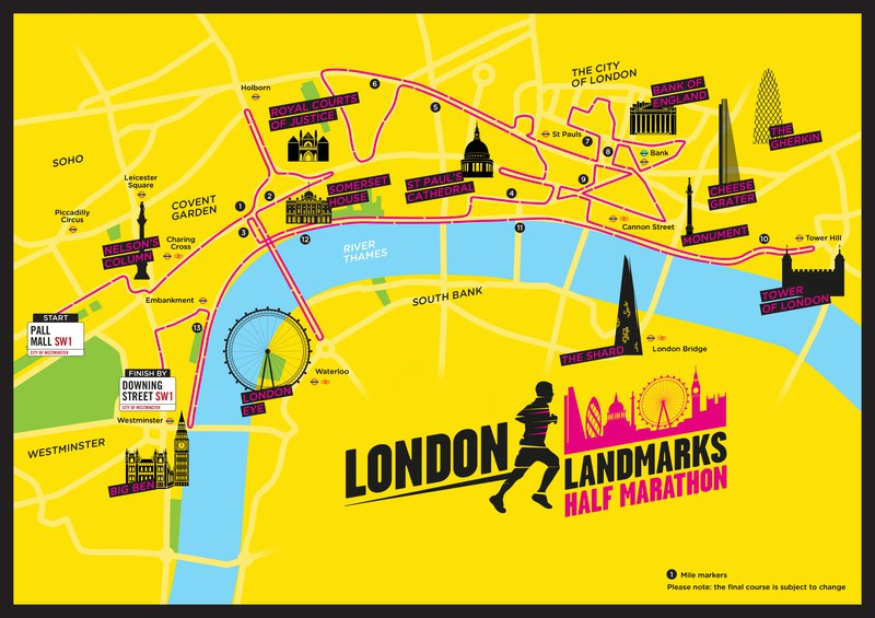 London Landmarks Half Marathon 2019 - run in support of leukaemia research