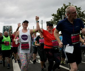 Laura johnson running Great North Run in support of Leuka's leukaemia research