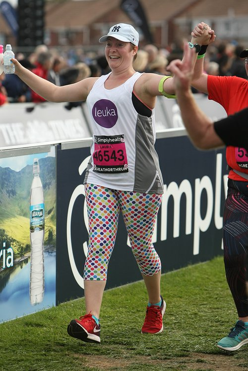 Laura finishes Great North Run