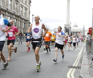 Finbarr Cotter, Professor of Haematology at Barts and The London School of Medicine running a 10k in support of Leuka