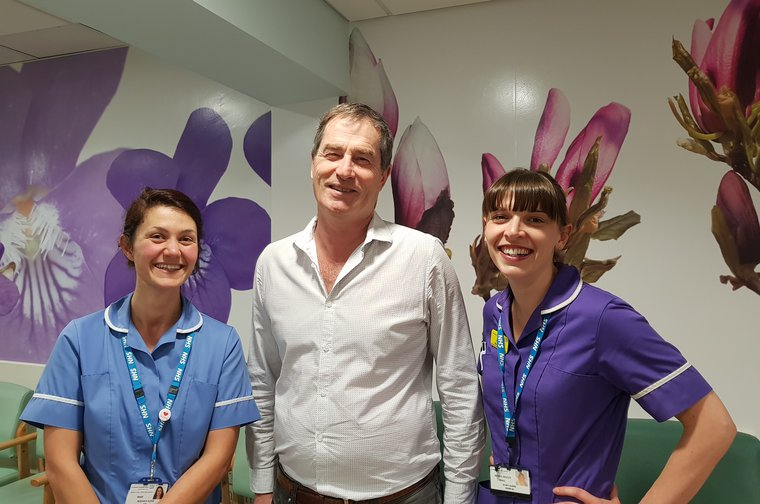 Professor David Marks and Nurses