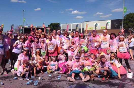 Dees Team after the colour run