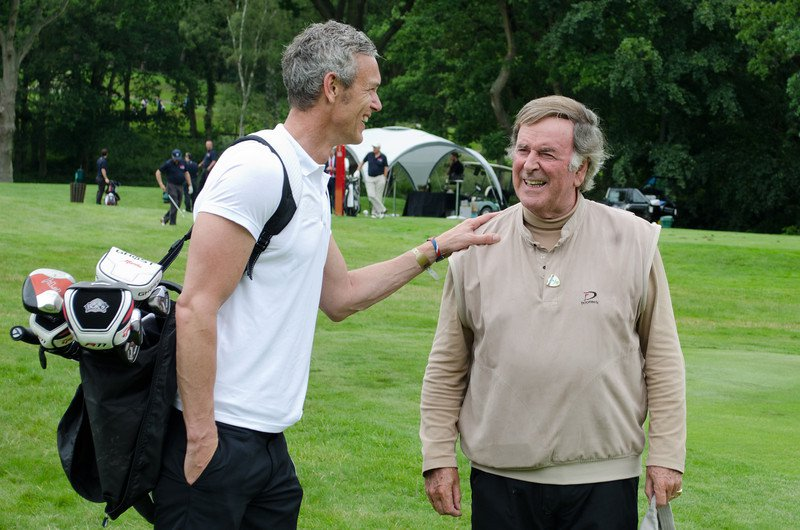 Mark Foster and Terry Wogan at the Mini Masters leukaemia fundraiser