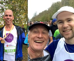 Team Leuka runners at the Royal Parks Half Marathon 2018