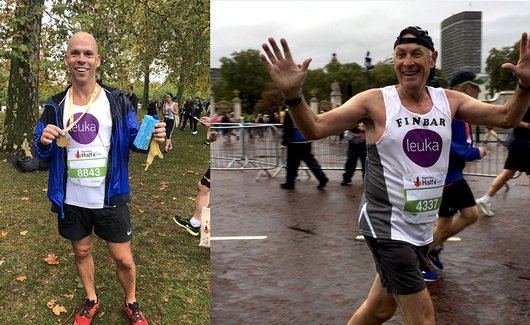 Finbarr and Ashley at the royal parks half marathon